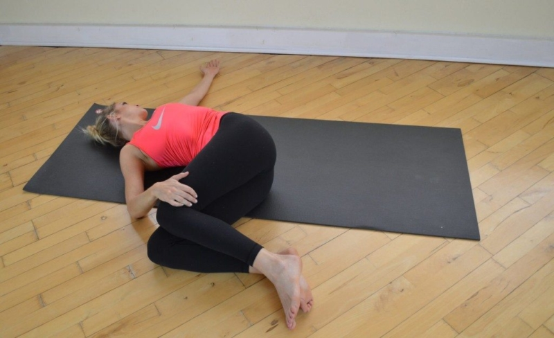 Chef V prayer pose - yoga