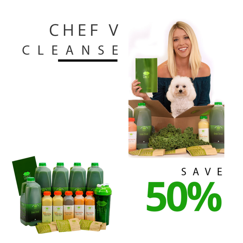 Chef V Five Day Cleanse foods and drinks