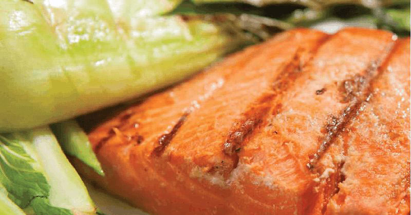 ginger glazed salmon with baby bok choy