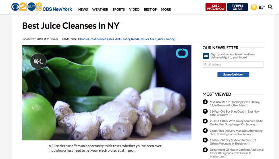 CBS News reviews Chef V 21 Day detox