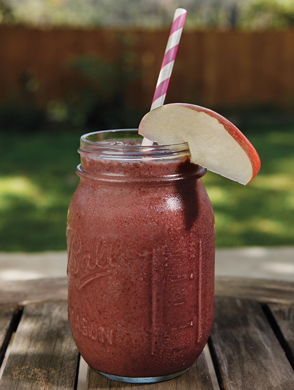 ginger apple berry smoothie