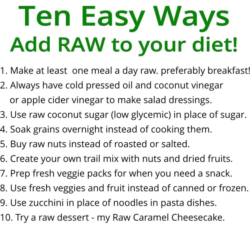 ten easy ways to go raw