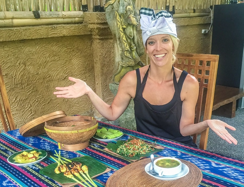 Chef V, Veronica Wheat Balinese cooking