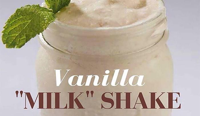 vanilla milk shake recipe