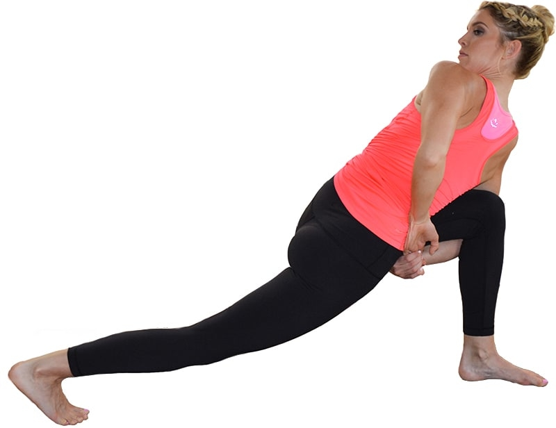 supine twist yoga pose