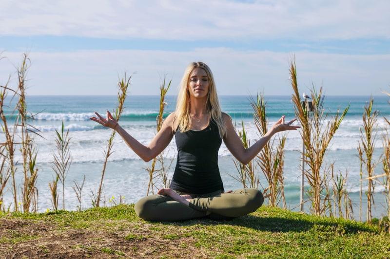 Chef V yoga for stress relief