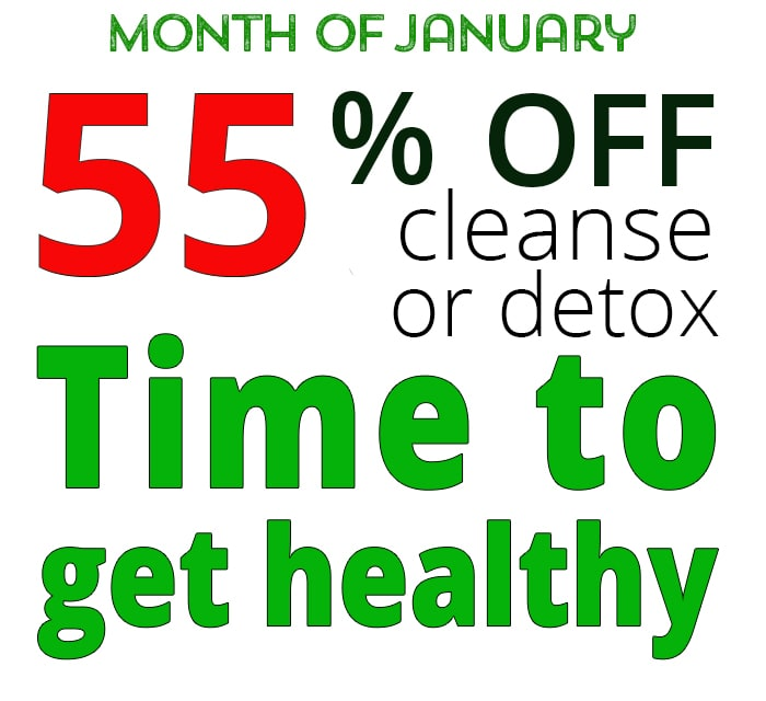 55% off detox and cleanse