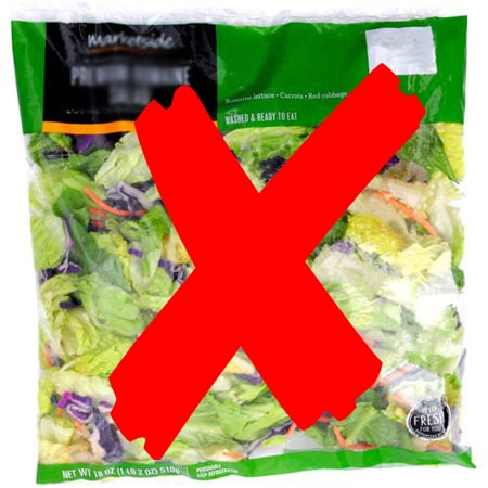 no packaged leafy greens
