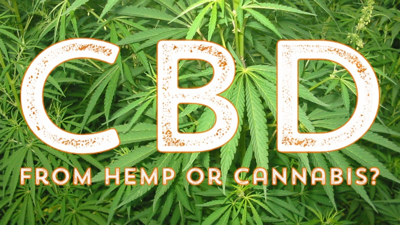 CBD from hemp or cannabis?