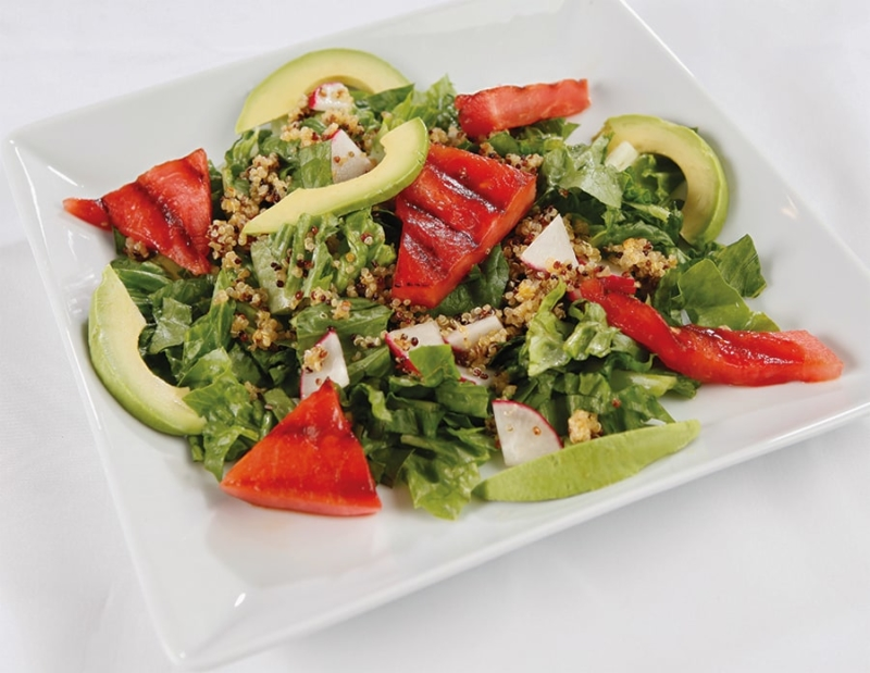 grilled watermelon and quinoa salad
