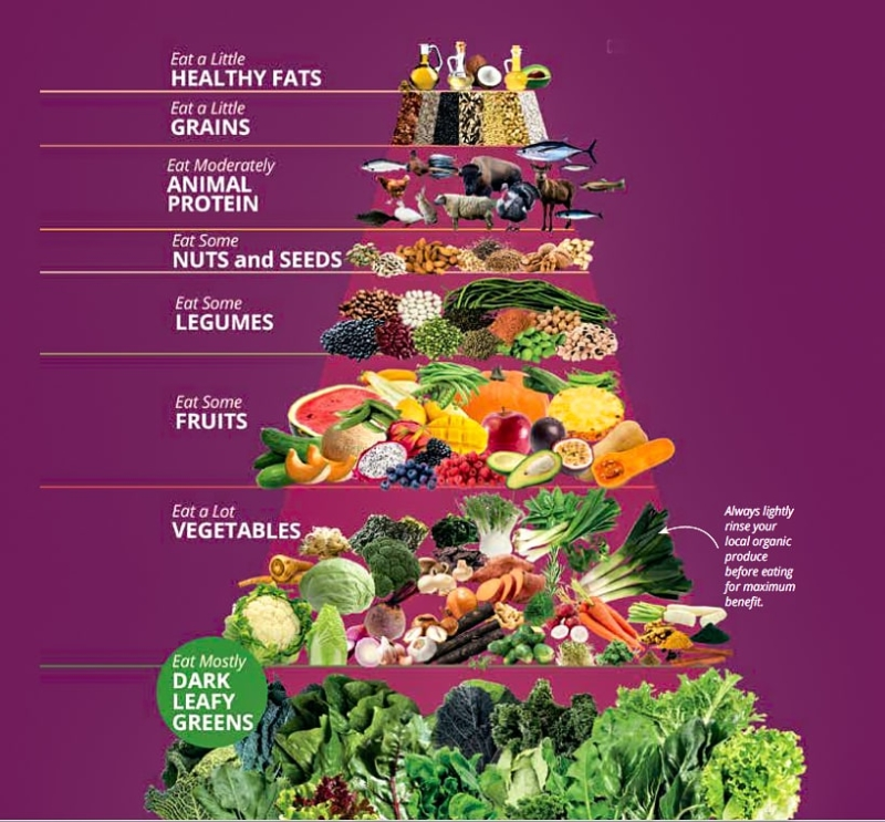 Chef V's organic food pyramid