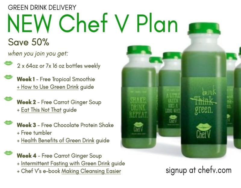 Chef V Green Drink Plan